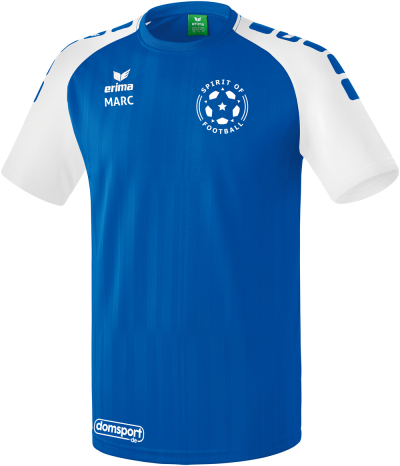 Trikot Spirit Of Football royal/weiß