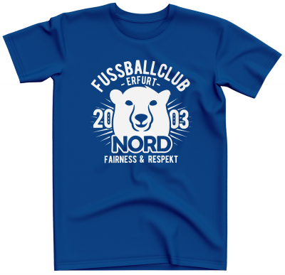 T-Shirt | Fairness & Respekt | royal  - FC Erfurt Nord